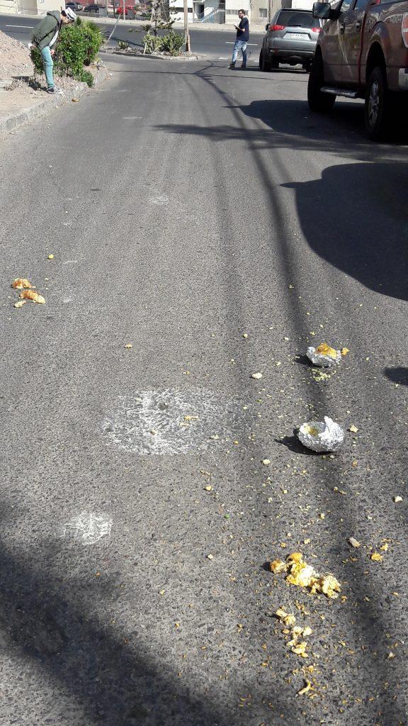 DESTRUCCIÓN. Muchas papas perdieron cuando iban camino abajo. Foto: Pamela Castillo.