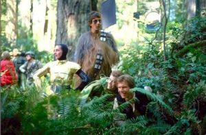 VACILANDO EN LA LUNA DE ENDOR. ¿George Lucas vino a Antofagasta a grabar estas escenas? Es incomprobable, pero nadie lo puede desmentir.